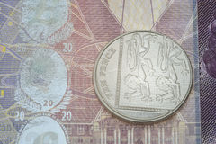 Ten pence over note detail Stock Image