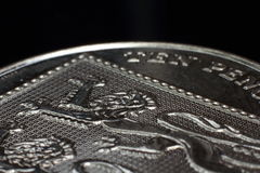 Ten Pence 10p Macro royalty free stock photo