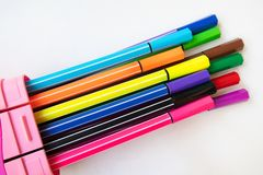 Ten pencil colorful stock photos