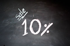 Ten percent  chalk drawing Royalty Free Stock Image