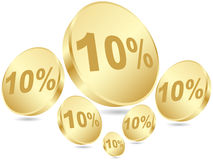 Ten percent discount Royalty Free Stock Image