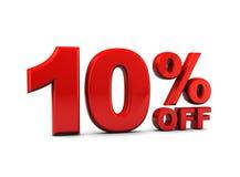 Ten percent discount Stock Image