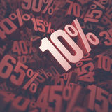 Ten Percent Discount Royalty Free Stock Photos
