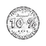 Ten percent discount stamp Royalty Free Stock Photos