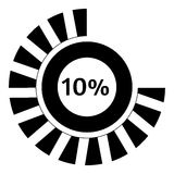 Ten percent download icon, simple style. Ten percent download icon. Simple illustration of ten percent download vector icon for web Royalty Free Stock Photo
