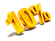 Ten percent. Gold Royalty Free Stock Photo