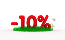 Ten percent off. Digital generated this image Stock Photography