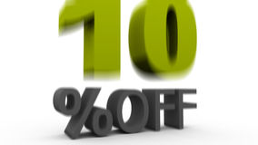 Ten Percent Off stock video