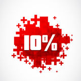 Ten percent off concept. Abstract background Stock Images