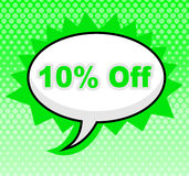 Ten Percent Off Indicates Sign Display And Discount Royalty Free Stock Photo
