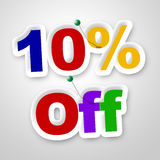 Ten Percent Off Means Promo Retail And Merchandise Royalty Free Stock Photography