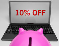 Ten Percent Off On Notebook Shows Discounts Stock Photography
