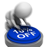 Ten Percent Off Pressed Means 10 Lower Price Stock Photos