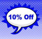 Ten Percent Off Represents Closeout Discounts And Message Stock Photography