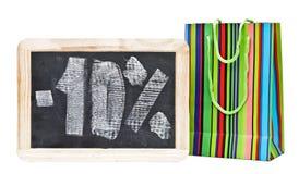 Ten percent written on blackboard Royalty Free Stock Photo