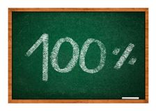 10 percent on green chalkboard Royalty Free Stock Image