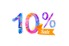 10 ten percents sale. Vector triangular digits Stock Photo