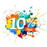 10 percents sale. Splash paint. Ten percents sale. Vector watercolor splash paint vector illustration