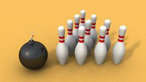Ten pin booming Stock Images