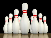 Ten pin bowling Stock Photos