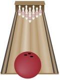 Ten pin bowling Royalty Free Stock Image