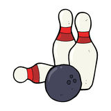 Ten pin bowling cartoon Royalty Free Stock Photography