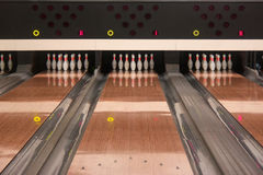 Ten-pin bowling lanes Royalty Free Stock Photography