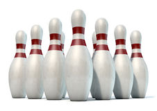 Ten Pin Bowling Pins Royalty Free Stock Photo