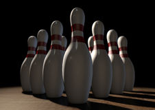Ten Pin Bowling Pins Royalty Free Stock Images