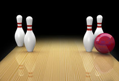 Ten pin bowling spare called Big Ears Royalty Free Stock Photo