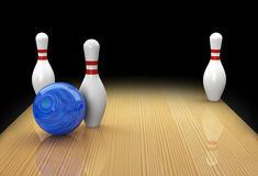 Ten pin bowling split or spare called Christmas Tree Stock Photos