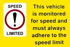 Ten pojazd monitoruje dla prędkość znaka obrazy royalty free