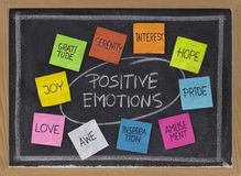 Ten positive emotions Royalty Free Stock Images