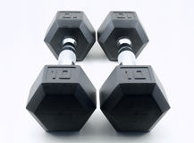 Ten Pound Dumbbells Royalty Free Stock Image