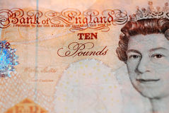 Ten Pound Note. A close up photograph of a British £10 note Stock Images