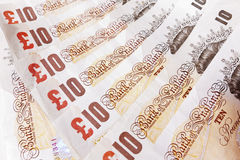 Ten Pound Note Background Royalty Free Stock Image