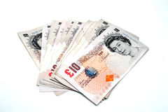 Ten Pound Notes Royalty Free Stock Image