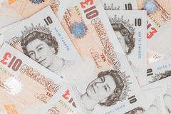 Ten pound notes of Bank of England Royalty Free Stock Photography