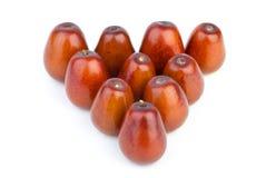 Ten ripe jujube berries Royalty Free Stock Photos