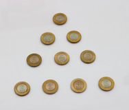 Ten rupee coin of India. Stock Image