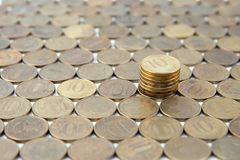 Ten Russian coins Royalty Free Stock Image