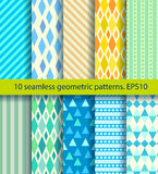 Ten seamless pattern Stock Photos