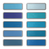 Ten shiny editable webbuttons of glass and steel Stock Photos