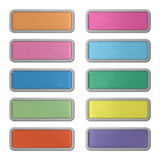 Ten shiny editable webbuttons of glass and steel Royalty Free Stock Photography
