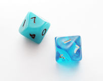 Ten-sided dice. On white background Stock Photography