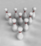 ten skittles perspective center view Royalty Free Stock Photography