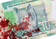 Ten South African Rand, blood Stock Images