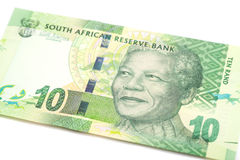 Ten South African Rand. Isolated Stock Image