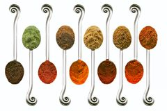 Ten spices Royalty Free Stock Photo
