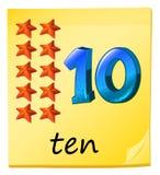 Ten stars Stock Images